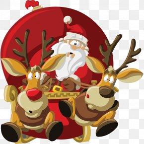 Santa Claus - Santa Claus Christmas Day Reindeer Illustration Vector Graphics PNG