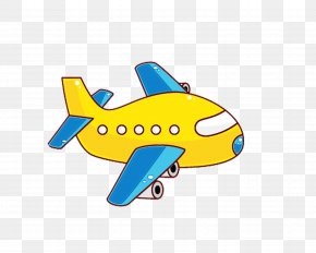 Fish Mode Of Transport - Airplane Cartoon Air Travel Clip Art Yellow PNG