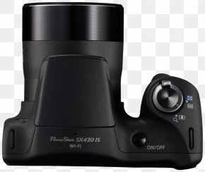 Camera - Point-and-shoot Camera Canon PowerShot SX430 IS Zoom Lens PNG