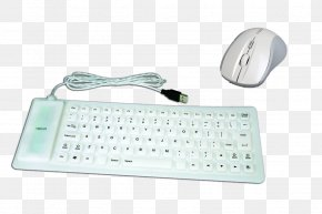 White Keyboard - Computer Keyboard Numeric Keypad Computer Mouse Space Bar PNG