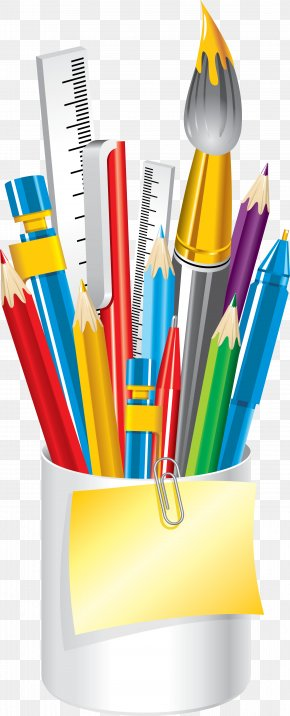 School - School Supplies Colored Pencil Clip Art PNG