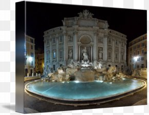 Trevi Fountain - Trevi Fountain Gallery Wrap Canvas Art PNG