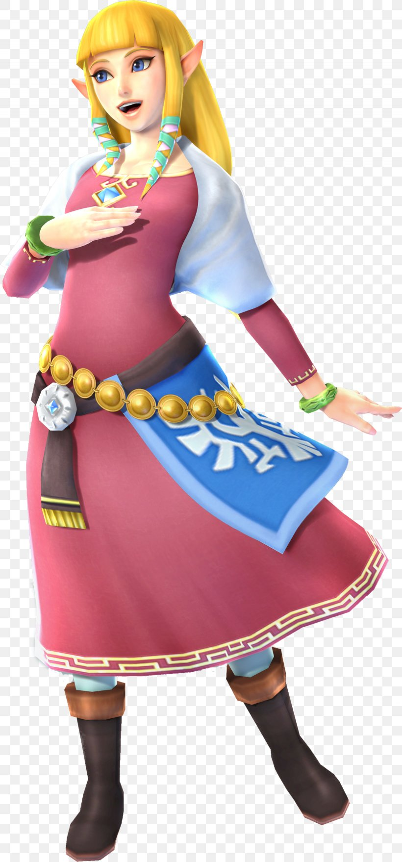 The Legend Of Zelda: Skyward Sword The Legend Of Zelda: Twilight Princess HD Princess Zelda Hyrule Warriors Link, PNG, 1230x2638px, Legend Of Zelda Skyward Sword, Action Figure, Clothing, Costume, Doll Download Free