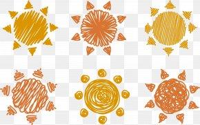 Hand-painted Summer Sun - Drawing Sun Euclidean Vector PNG