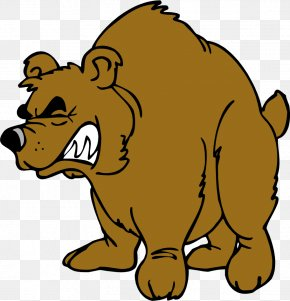 Angry Brown Bear - Brown Bear Grizzly Bear Clip Art PNG