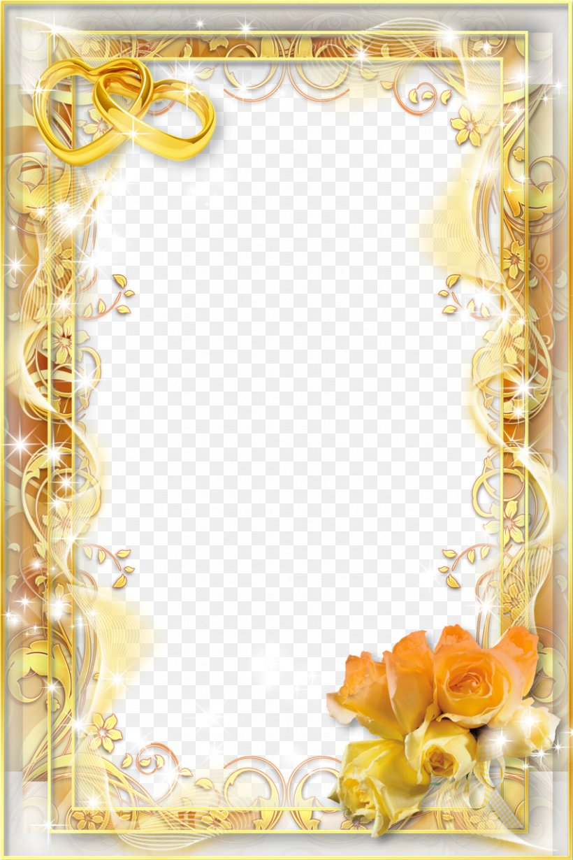 Wedding Invitation Picture Frame PNG 853x1280px Wedding