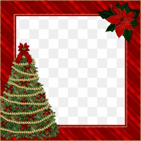 Christmas Border - Christmas Picture Frame Clip Art PNG