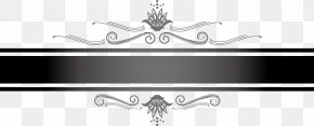 Hand Painted Black Lines - Black And White Line Art PNG