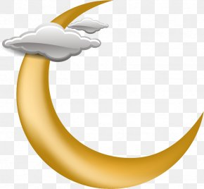 Vector Painted Yellow Crescent - Clip Art PNG