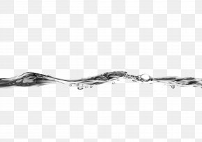 Simple Black And White Water Decorative Patterns - Water Drop PNG