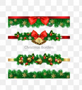 Four Christmas Decoration Border - Christmas Decoration Christmas Tree PNG