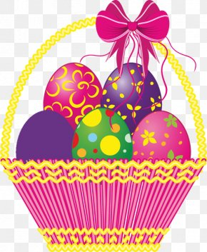 Easter Graphics - Easter Bunny Easter Basket Easter Egg Clip Art PNG
