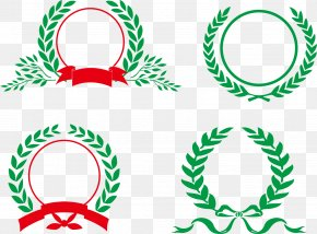 Wheat Pattern Red Ribbon - Green Wheat Red Clip Art PNG