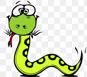 Snake - Snake Cartoon Black And White Drawing Clip Art PNG