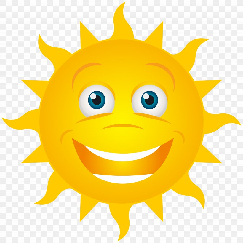 Smiling Sun Smile Clip Art, PNG, 8000x8000px, Emoticon, Art, Cartoon, Clip Art, Icon Download Free