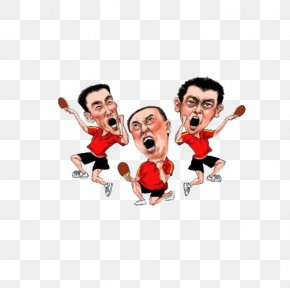 Malone Chinese Table Tennis Team Men Team - China National Table Tennis Team Ball Game PNG