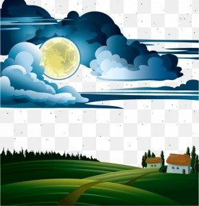 Dream Night - Text Cartoon Water Illustration PNG