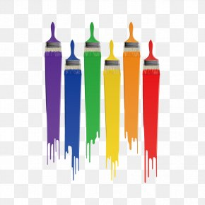Brushes And Watercolor - Paintbrush Drawing PNG