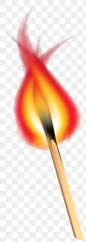 Burning Match Clip Art Image - Red Graphics Close-up Petal PNG