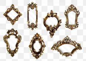Retro Mirror - Victorian Era Mirror Wall Light Picture Frame PNG