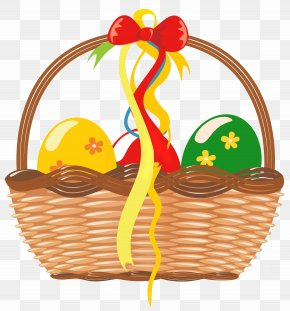 Easter Basket With Eggs Clipart Picture - Easter Bunny Easter Basket Clip Art PNG