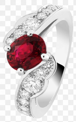 Billing Division Of The Products In Kind Red Ruby ​​ring Wall Button - Ruby Earring Jewellery Van Cleef & Arpels PNG