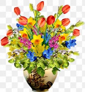 Pot Of Tulips - Flowerpot Tulip Vase PNG