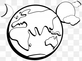Earth Black And White - Outline Of Earth Free Content Clip Art PNG