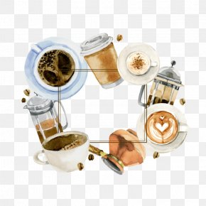 Vector Coffee Breakfast - Turkish Coffee Tea Cafe Clip Art PNG