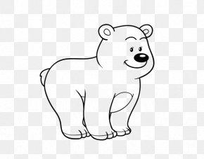 Bear - Polar Bear Giant Panda Coloring Book Drawing PNG