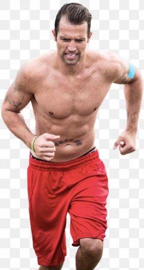 Running Man - T-shirt Arm Shoulder Torso Male PNG