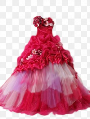 Dress - Ball Gown Dress Prom Fashion PNG