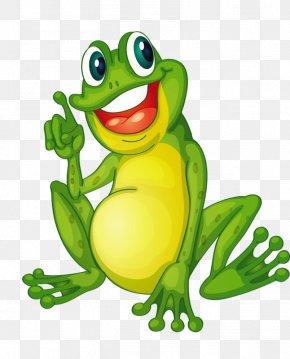 Happy Frog - Frog Cartoon Clip Art PNG