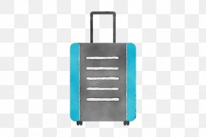 Rectangle Hand Luggage - Turquoise Aqua Suitcase Teal Hand Luggage PNG