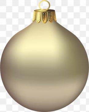 Transparent Christmas Gold Ornament Clipart - Christmas Ornament Santa Claus Clip Art PNG