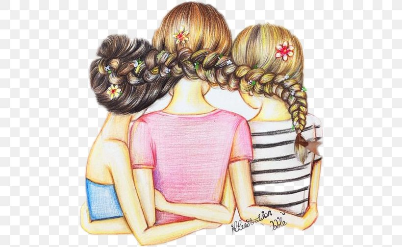Best Friends Forever Drawing Friendship Image Illustration Png 499x504px Watercolor Cartoon Flower Frame Heart Download Free