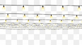 Fluorescent Light String Decoration - Light Cartoon PNG