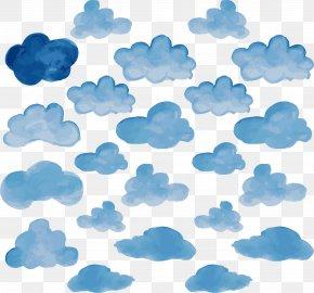 Sky Blue Watery Clouds - Cloud Sky Blue Euclidean Vector PNG