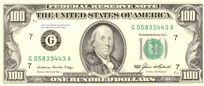 100 Dollar Bill Cliparts - United States One Hundred-dollar Bill United States Dollar Federal Reserve Note Banknote United States One-dollar Bill PNG