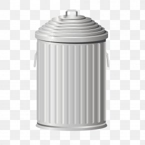 Stainless Steel Trash Can - Waste Container Recycling PNG