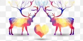 Deer Love Vector Geometry - Geometry Geometric Shape Clip Art PNG