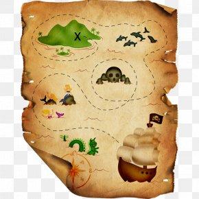 Pirate Map - Piracy Clip Art PNG