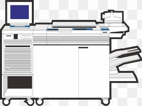 Hand Drawn Printer - Printer Paper Output Device PNG
