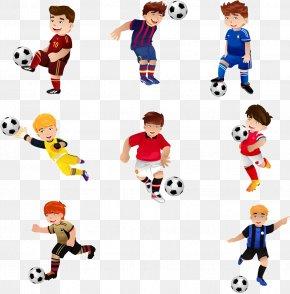 Cartoon Child Football Player Cartoon Image - Football Play Stock Photography Royalty-free PNG