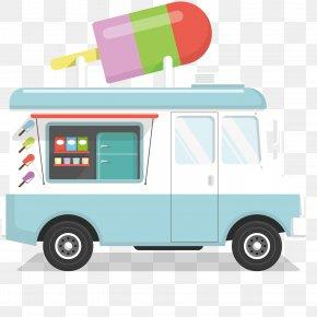 Ice Cream Truck Design - Ice Cream Van Car PNG