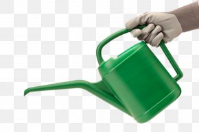 Creative Water Bottle In Hand - Watering Can Can Stock Photo PNG