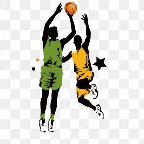 Basketball - Basketball Slam Dunk Clip Art PNG