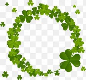 Clover Wreath - Four-leaf Clover Shamrock Saint Patricks Day PNG