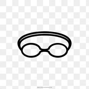 Swimming Glasses - Glasses Goggles Swimming Drawing Coloring Book PNG