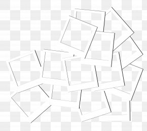 White Frame Geometry - Paper Triangle Black And White Pattern PNG
